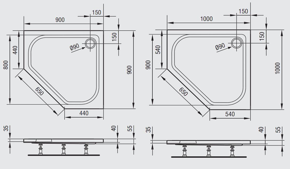stilvolle optiset bade und duschwannen richter frenzel. Black Bedroom Furniture Sets. Home Design Ideas