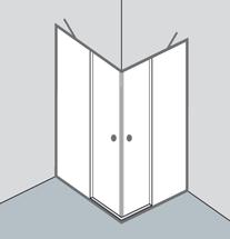 glasklare optiset duschabtrennungen richter frenzel. Black Bedroom Furniture Sets. Home Design Ideas